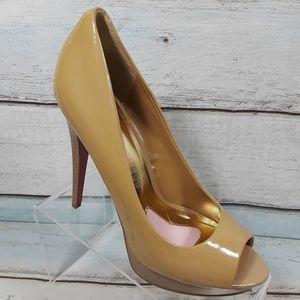 Paris Hilton Platform Heel Peep Toe Pumps Size 9